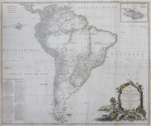 A Map of South America Containing Tierra-Firma, Guyana, New Granada ...