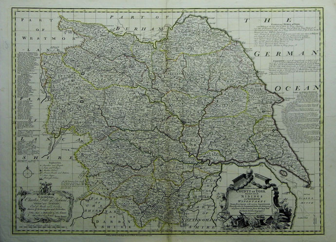 An Accurate Map of the County of York Divided into its Ridings and on