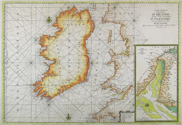 Carte Angleterre Ecosse.Carte Generale Des Costes D Irlande Et Des Costes Occidentales D