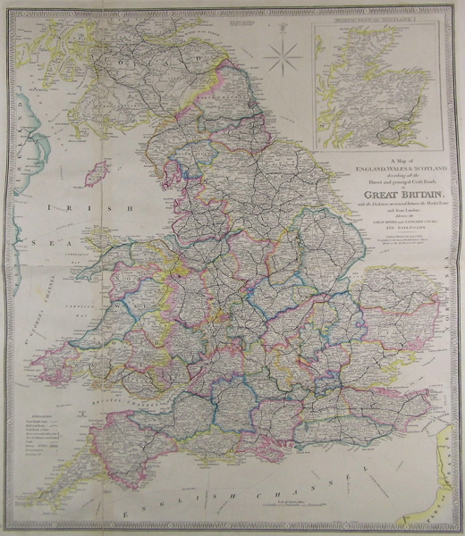 Road Map Of England And Wales With Towns.A Map Of England Wales Scotland Describing All The Direct And