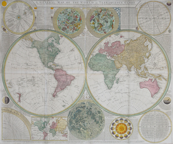 The New Map Of The World.A General Map Of The World Or Terraqueous Globe With All The New