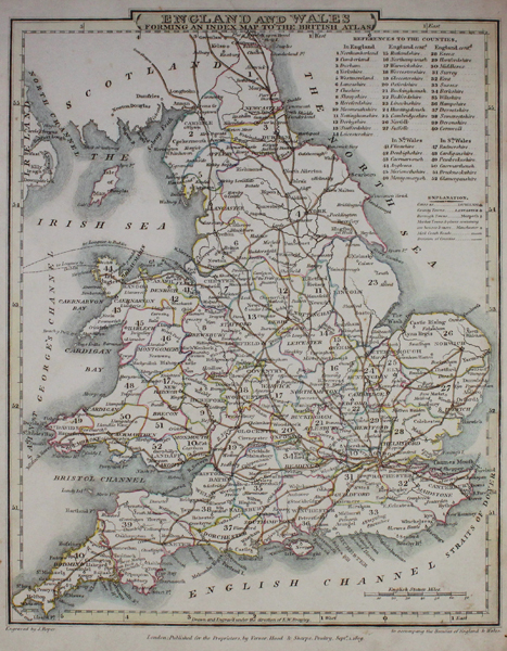 Map Of England Rivers And Canals.England And Wales With The Canals Navigable Rivers Railroads C